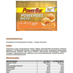 PowerBar PowerGel Shots Sacoche 16x60g, Orange
